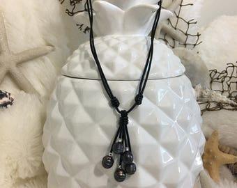 Deep sea 5 pearl necklace
