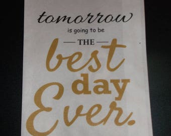 Kraft 5x7 Best Day Ever Wedding Rehearsal Favor Sold in Sets of 10 Weddings, Bridal Shower, Engagement Party For all Occasions