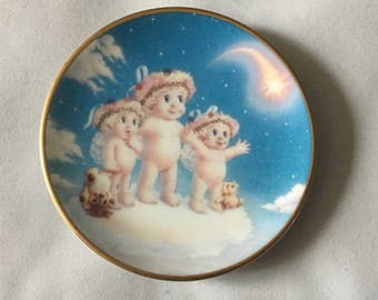 Dreamsicles Wishing Upon A Star Kristin Haynes Limited 1996 Hamilton Collection Collector Miniature Plate