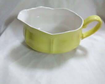 Vintage. Lemon (yellow) gravy boat. Such a pretty gravy boat for a collector.