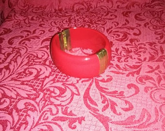 Vintage large red bangle
