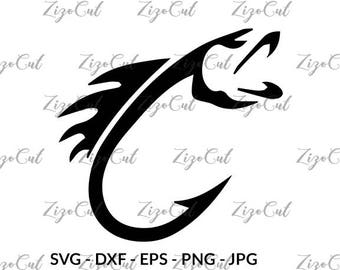 Fish hook svg