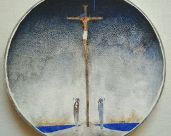 Icon of Crucifixion of Jesus Orthodox Modern