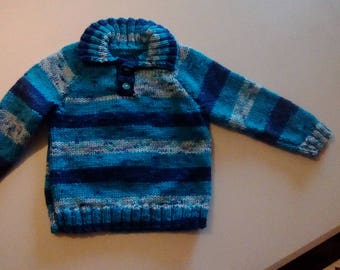 Boys hand knitted chunky sweater