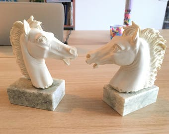 Horses articles on A.Giannelli signed marble base