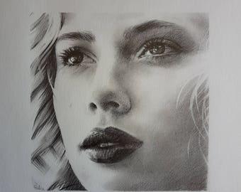 Scarlett Johansson - Portrait in pencil - 001