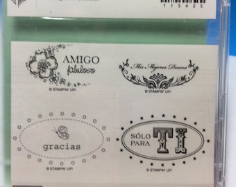 Stampin Up Todos Ovalados set of 4 stamps