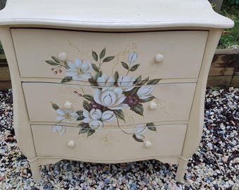 Stunning Hand-Painted French Set of Drawers
