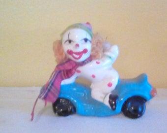 Vintage Clown on a car