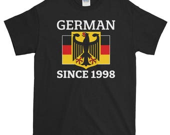 German American, 1998 Birthday, 20th Birthday Gift, German Flag, 20th Birthday Shirt, Germany Flag, German Heritage, German Birthday