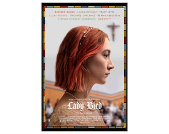 "Lady Bird Movie Poster -  Saoirse Ronan, Laurie Metcalf, Tracy Letts - 24"" x 36"" - 16"" x 24"" - 12"" x 18"" - Modern Movie Poster"