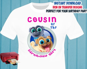 Puppy Dog Pals Iron On Transfer , Cousin Birthday Shirt Iron On Transfer , Digital Files , PNG , High Resolution , Instant Download