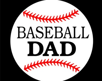 Baseball Dad Car decal