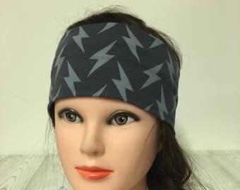 Headband grey with lightning 55-62 cm cotton jersey