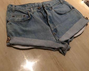 Vintage Denim shorts - Versace Inspired