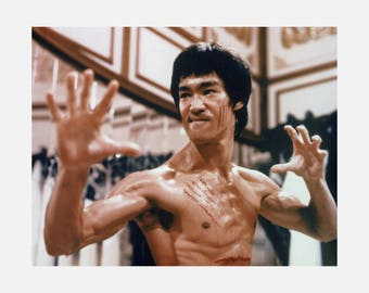Bruce Lee Enter The Dragon Print Poster or Canvas