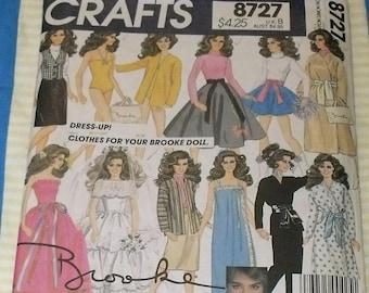 McCall's 1983 Brooke Shields Doll Clothing Pattern Factory Folded Uncut