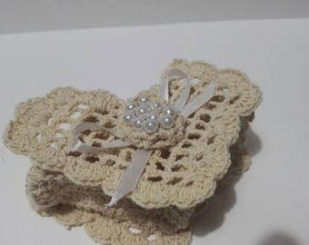 Jewelry box in cotton crochet