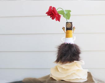 Beauty and the Beast Wine Bottle Center Piece