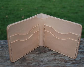 Handmade vegtan bifold wallet-genuine-leather-personalized