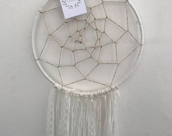 Dream catcher with lace