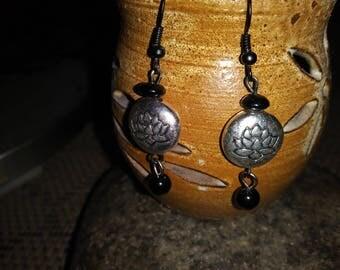 Handmade lotus earrings
