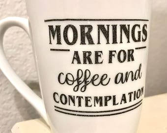 Mornings are for Coffee and Contemplation Decal- Stranger Things Decal- Stranger Things Sticker