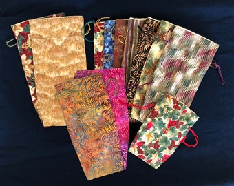 Sampler Set #1 - 12 Year-Round Prints - Mixed Sizes: Large, Medium (Wine) and Small - Limited Edition Fabrics (Set1-12-LB14)