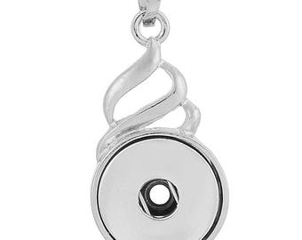 20mm Snap Jewelry Necklace, Swirl