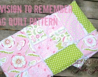 Ashlyn Rag Quilt Pattern - Baby Quilt Pattern - Kid Sewing Pattern - Easy Quilt Patterns - Simple Quilt Pattern - Baby Sewing Pattern