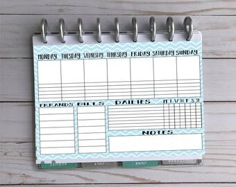Happy Planner Printable - Daily Task Sheet