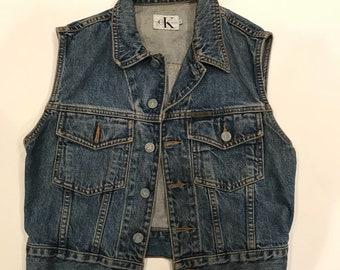 Vintage Calvin Klein denim vest