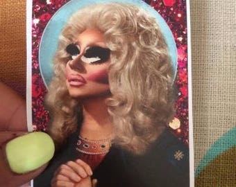Saint Trixie Mattel Rupaul's Drag Race Drag Queen Sticker Or Magnet GBFF