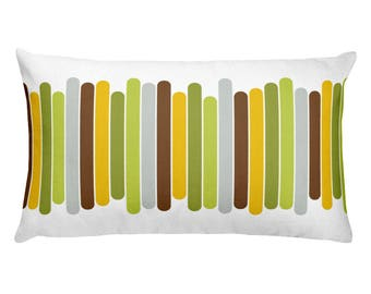 Pillow with Modern Stripes