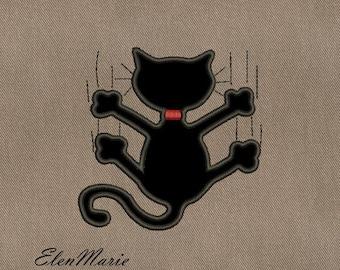 Machine Embroidery Design - Cat  applique  4*4  5*7