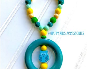 Personalized wooden teether