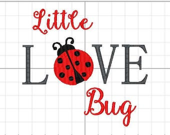 Little Love Bug 5x7 Embroidery Design