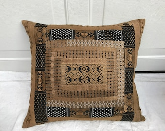 Chinese Handwoven Silk Hmong Hill Tribe Pillow