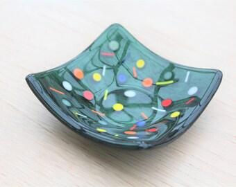 Fused Glass Square Trinket Dish