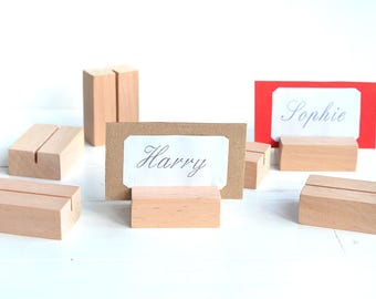 Wood place name card holder, Wooden table numders card holders, Rustic wedding geometric table holders, Wood natural wedding table decors