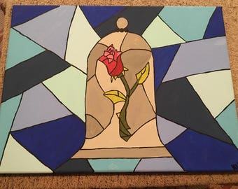 Stained Glass Canvas Painting
