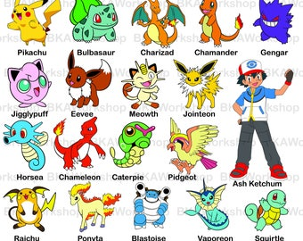Pokemon svg - Pokemon vector - Pokemon clipart - Pokemon digital clipart for Design or more, files download svg, png, jpg, eps