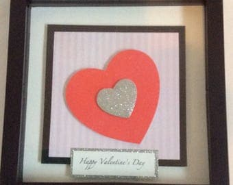 Valentine's  Shadow Box Frame
