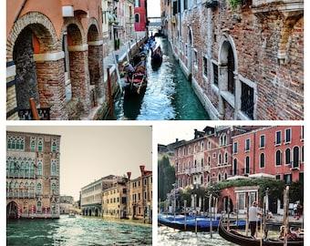 Set of 3 Prints, Venice Photography, Venice Prints, Venice Wall Art, Italy Photography