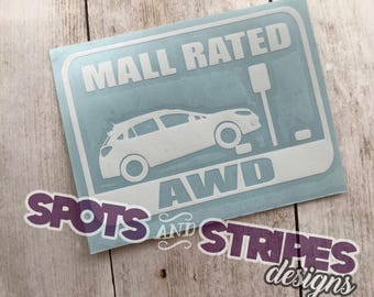 Mall Rated AWD Crosstrek Decal