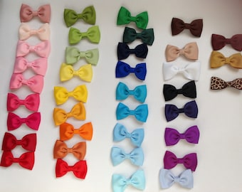 Grosgrain Ribbon Hair Clips For Girls and Babies 2.5 inches