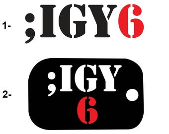 IGY6 Military Multi Use Two or Three Colors Decal