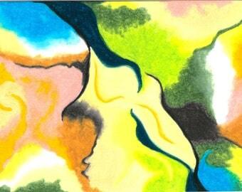 Fracture, oil Pastel, 21x29.7