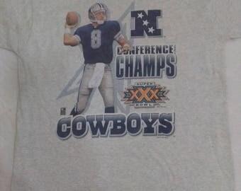 Vintage Troy Aikman cowboys 1995 conference champs t shirt