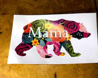 Custom Mama Bear Vinyl Sticker